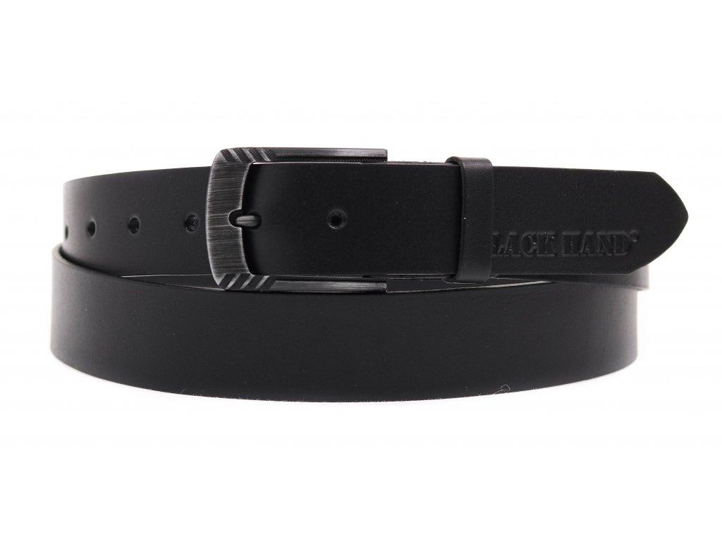Dámský kožený opasek Black Hand 119-98 černý