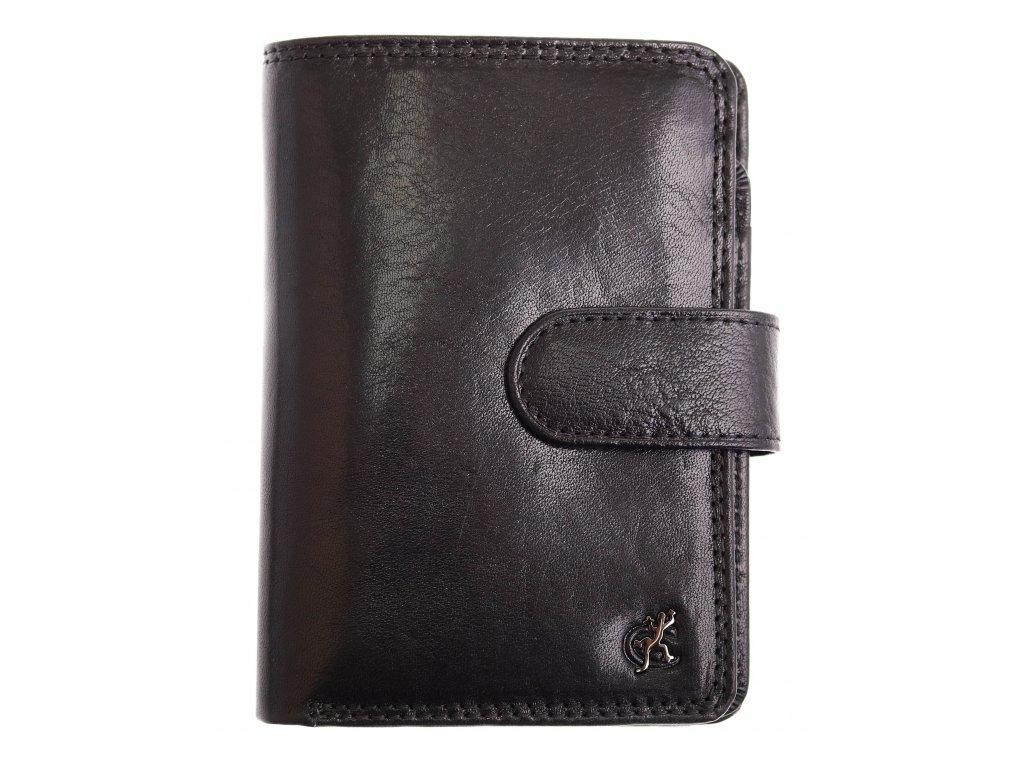 Pánská kožená peněženka Cosset 4422 Komodo černá