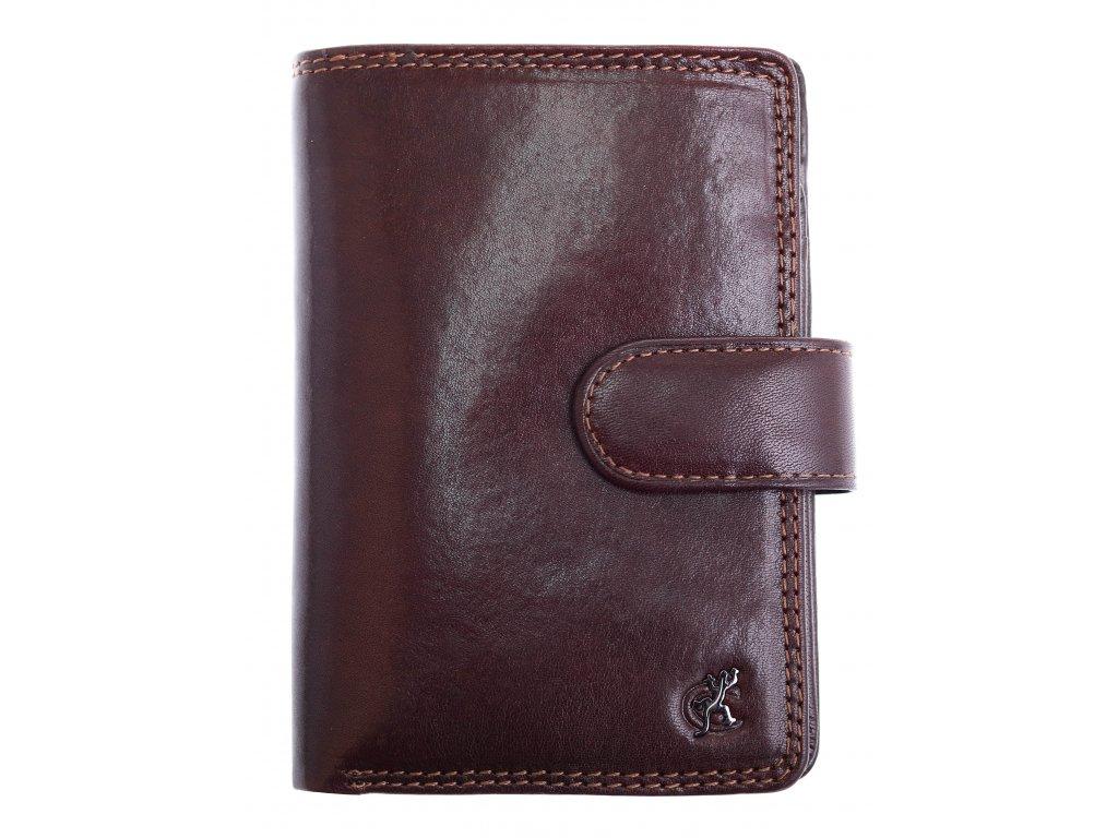 Pánská kožená peněženka Cosset 4422 Komodo hnědá