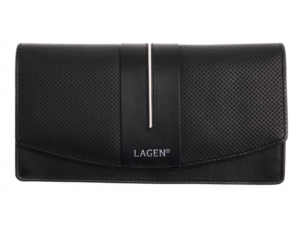 Dámská  kožená peněženka Lagen 4153 Black White