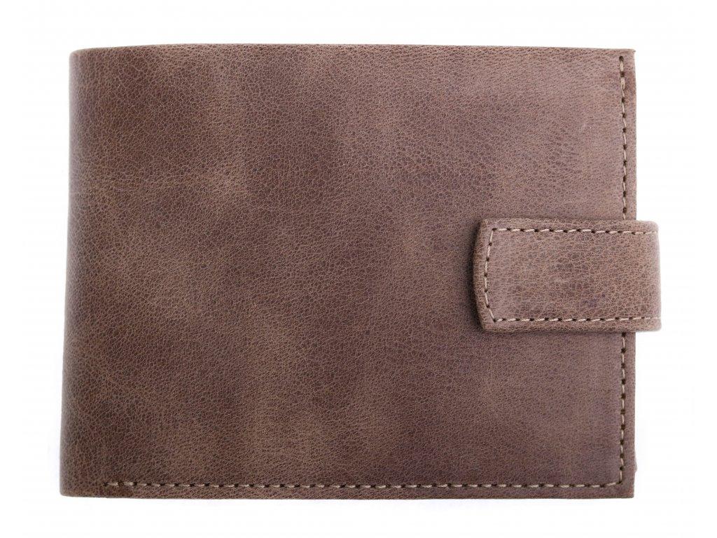Pánská kožená peněženka Hajn 587459.5 hnědá vintage