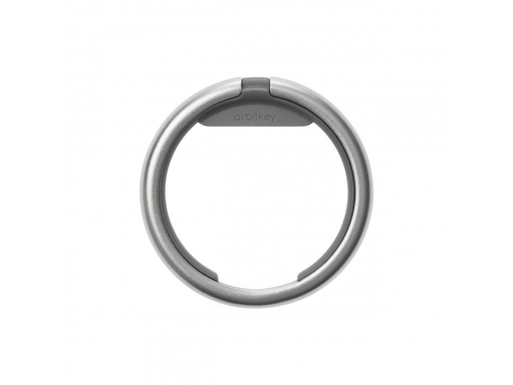 Chytrý kroužek na klíče Orbitkey Ring Charcoal - šedý