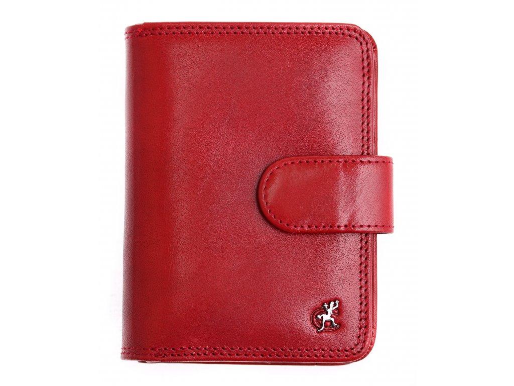 Dámská kožená peněženka Cosset 4494 Red Komodo