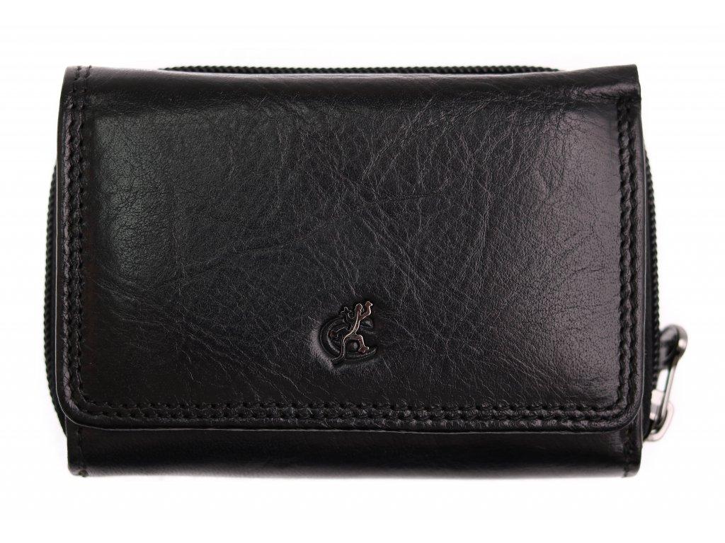 Menší dámská kožená peněženka Cosset 4511 Komodo černá