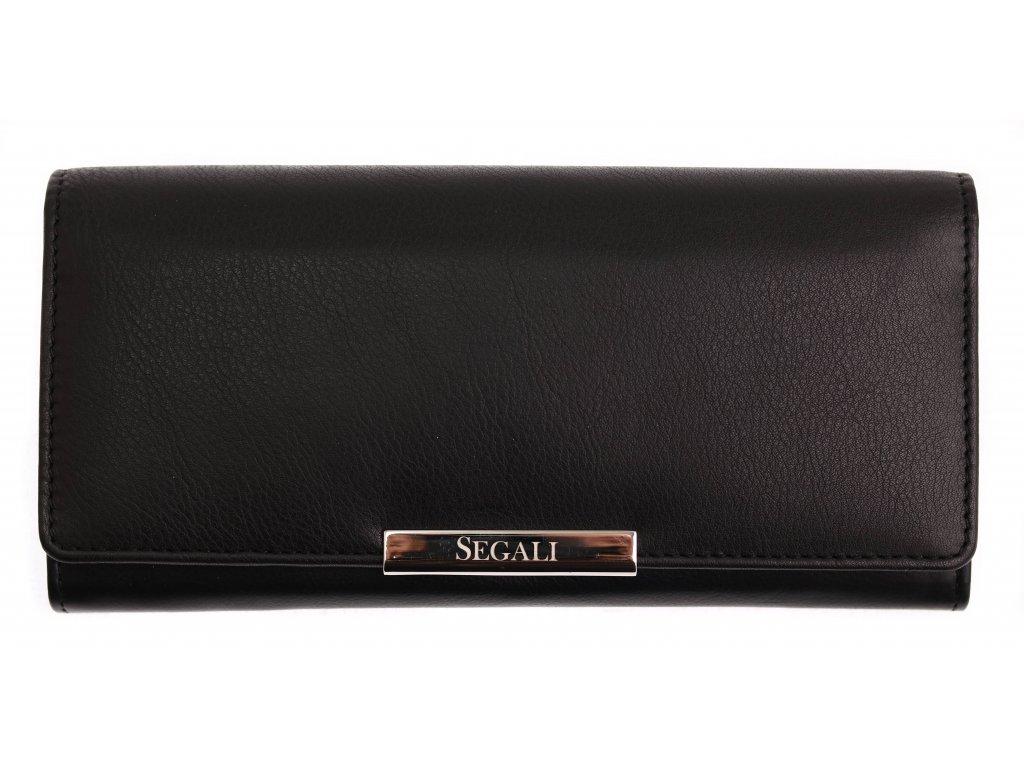 Dámská kožená peněženka Segali SG - 7066 černá
