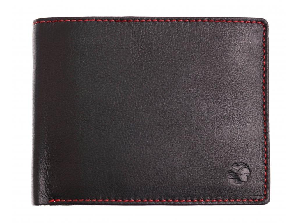 Pánská kožená peněženka Segali 614538 černá červená