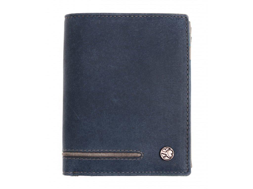Pánská kožená peněženka Segali 730.115.2519 tmavě modrá
