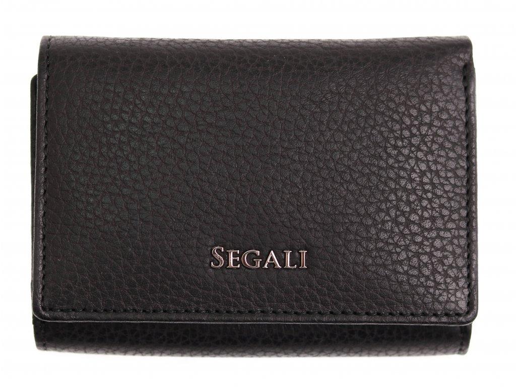 Dámská kožená peněženka Segali SG 7106 B černá