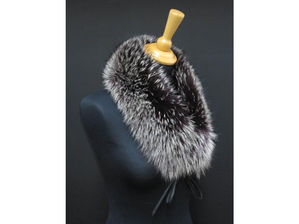 Kožešinový límec ze stříbrné lišky LS270 Silver/Purple