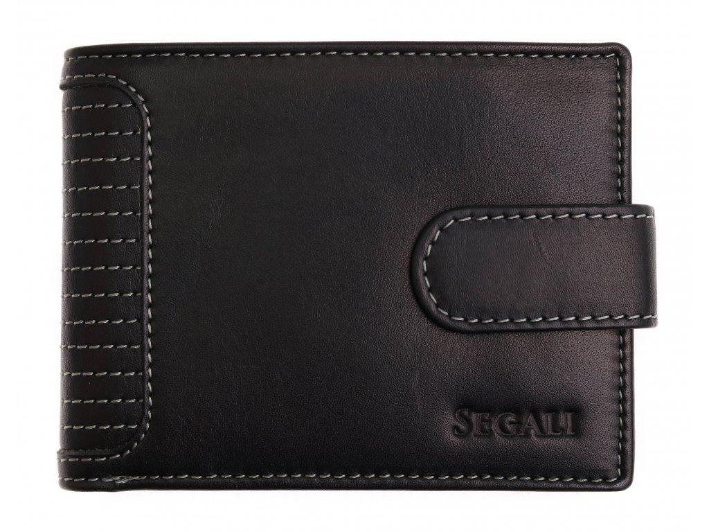 Pánská kožená peněženka Segali 572.665.005C černá
