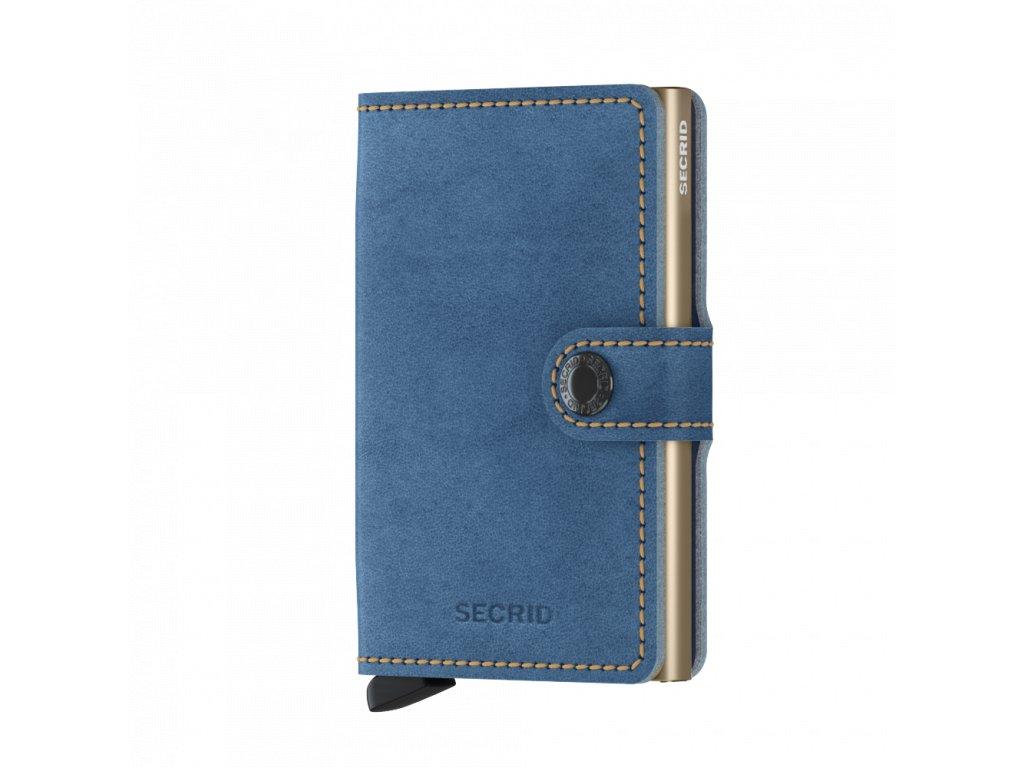 Kožená peněženka SECRID Miniwallet Indigo 3 Sand světle modrá džínová