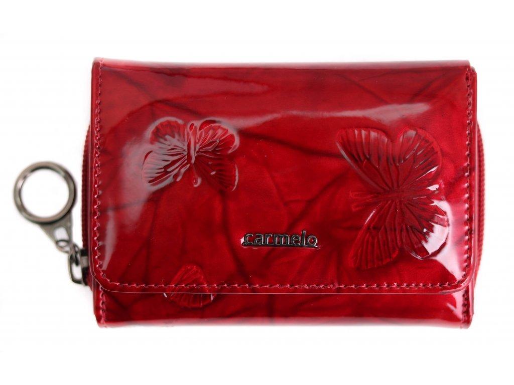 Dámská kožená peněženka Carmelo 2105 M Red