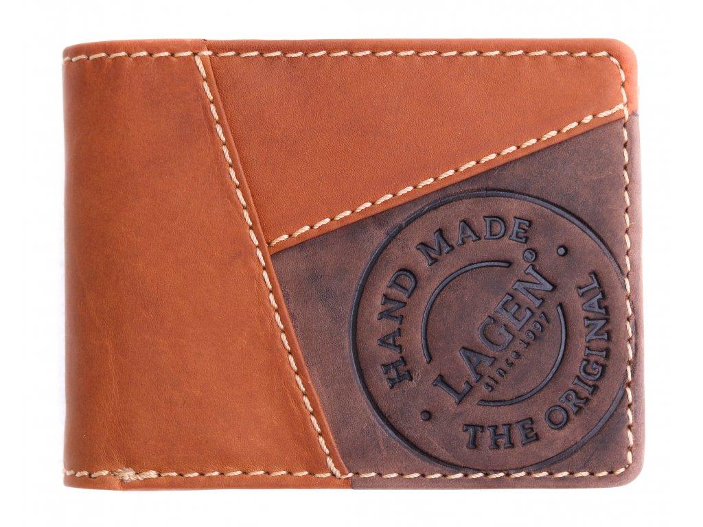Pánská kožená peněženka Lagen 511451 koňakově hnědá