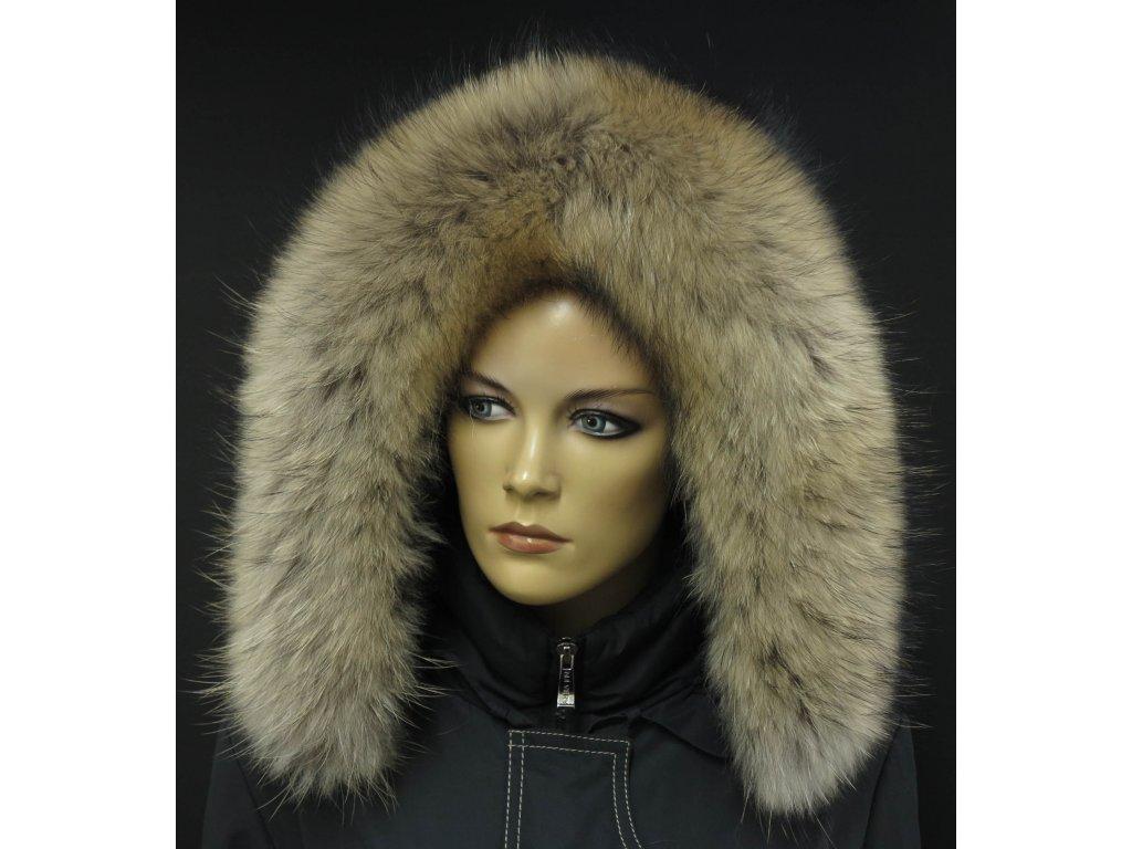 Kožešina na kapuci z mývalovce 3029 NATUR