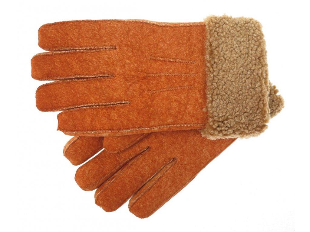 Luxusní kožešinové rukavice z ovčí kožešiny