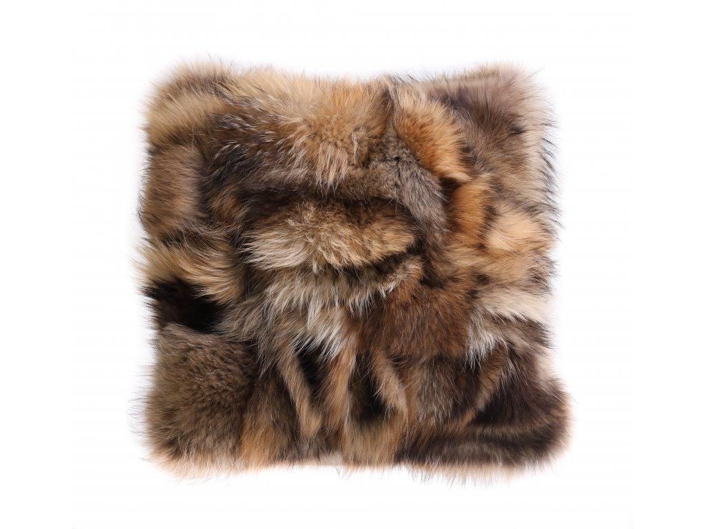 Kožešinový polštář z finského mývalovce - přírodní