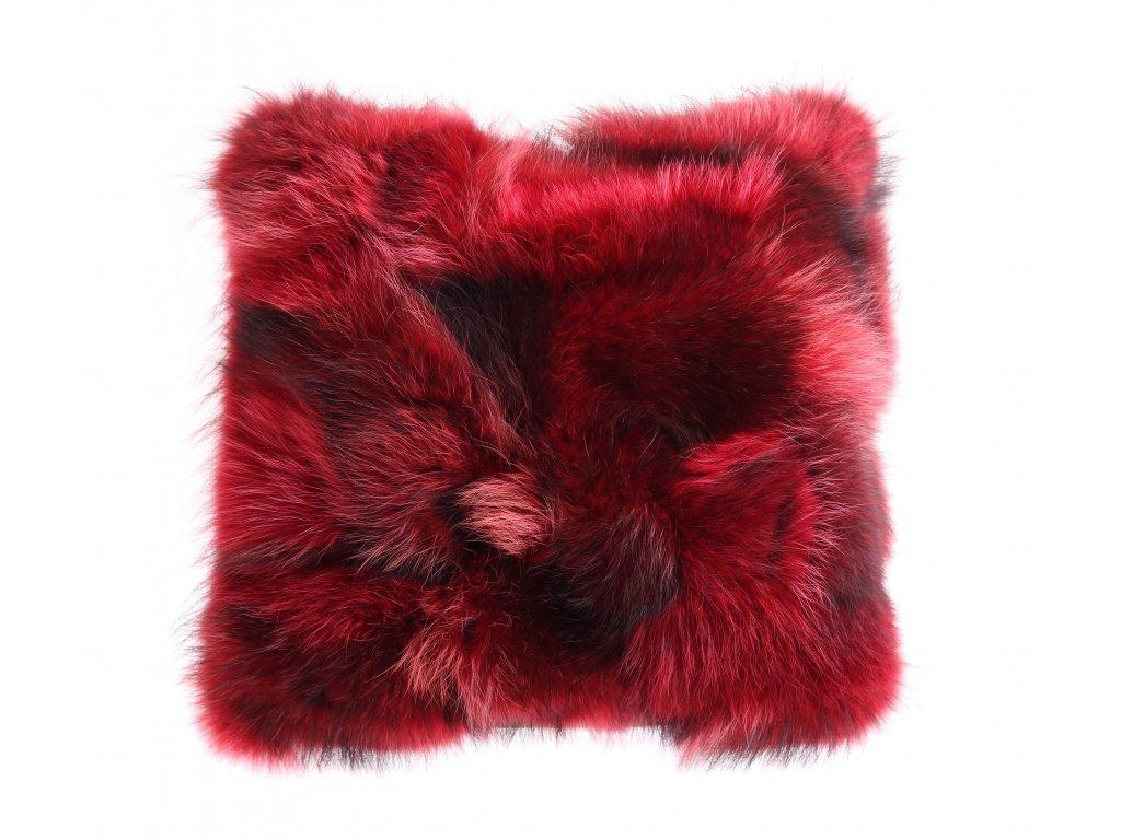 Kožešinový polštář z finského mývalovce - Red