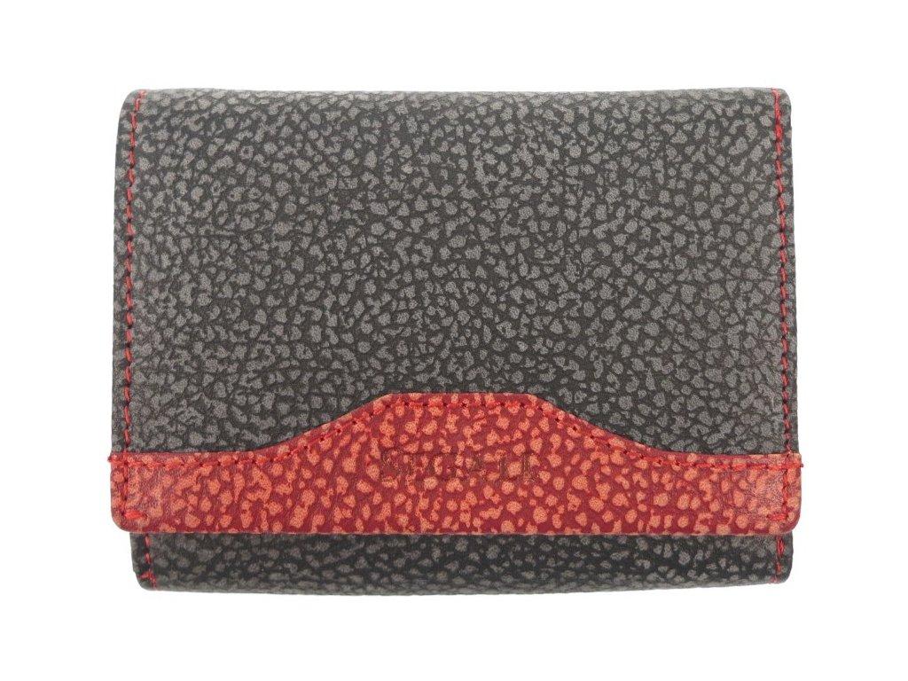 Dámská peněženka z broušené kůže Segali SG61420 šedá/červená