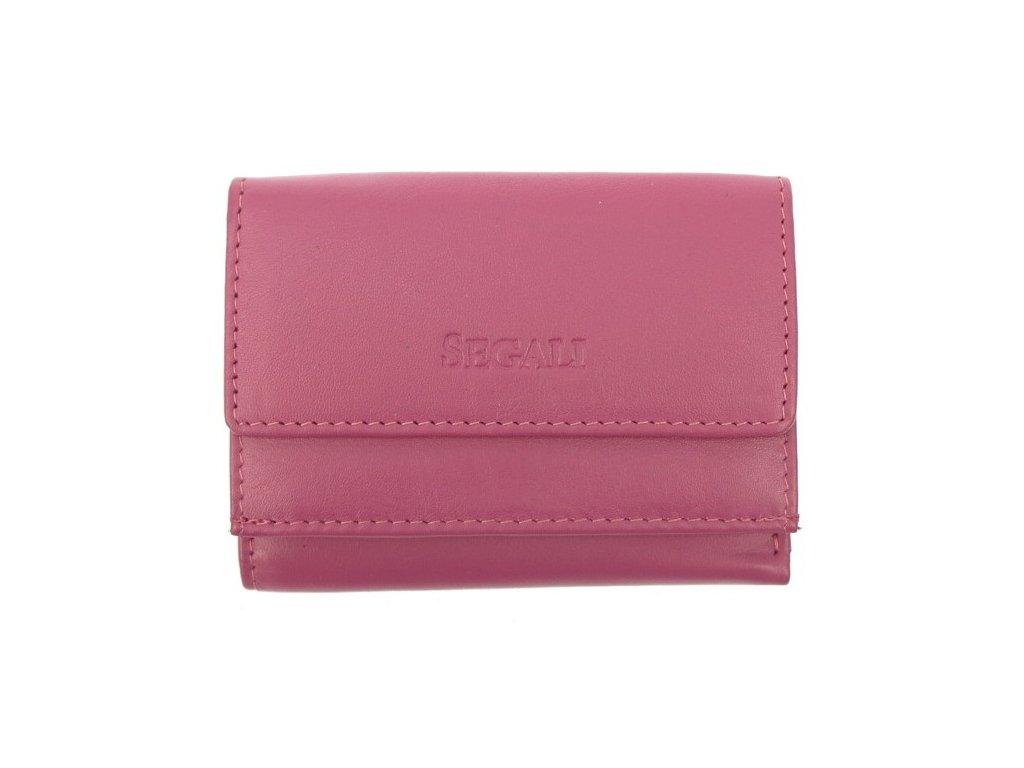 Malinká dámská kožená peněženka Segali SG1756 růžová