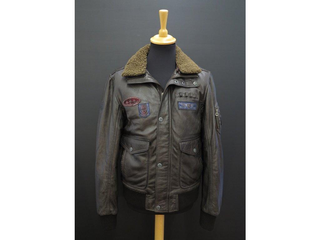 pánská kožená bunda pilotka - pilotní bunda
