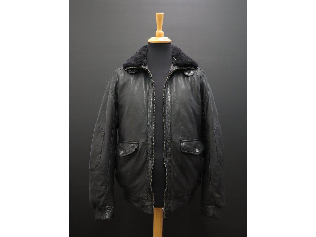 Pánská kožená bunda s kožíškem Deercraft Force černá - Špongr.cz 723fb06cd8b