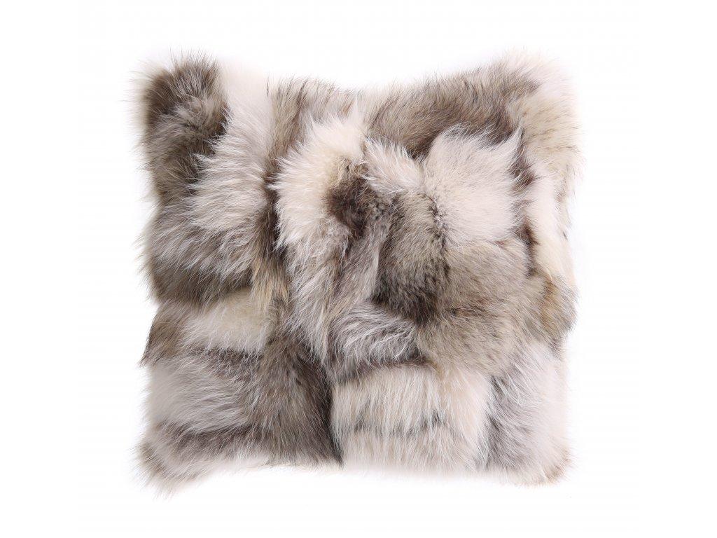 Kožešinový polštář z finského mývalovce - arktik