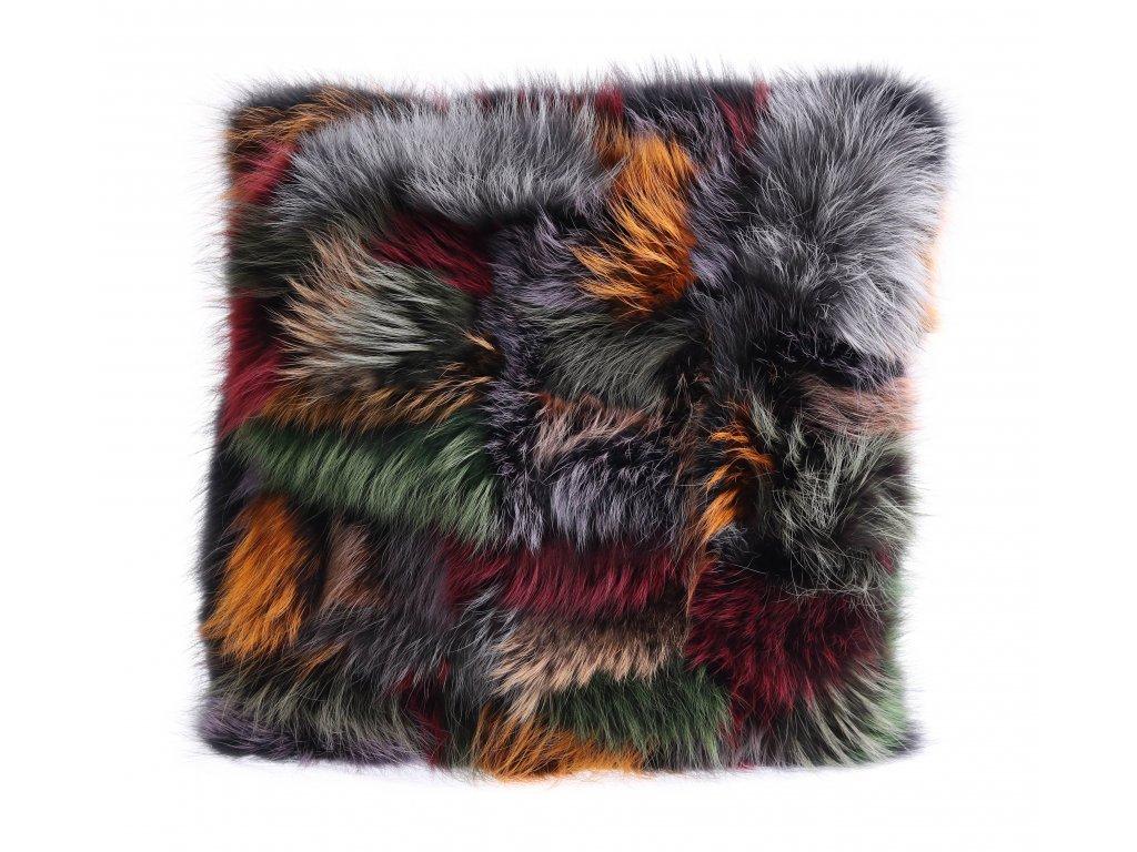 Kožešinový polštář z finského mývalovce - Multicolor