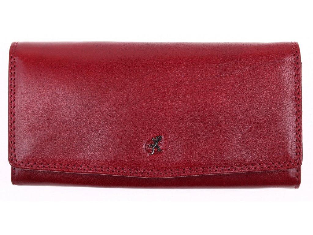 Dámská Kožená peněženka Cosset 4466 Komodo bordó