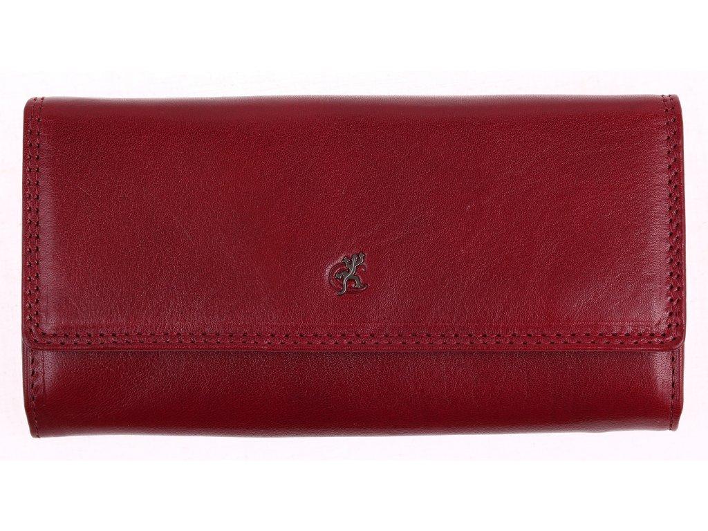 Klasická elegantní vínová kožená peněženka Cosset 4493 Komodo