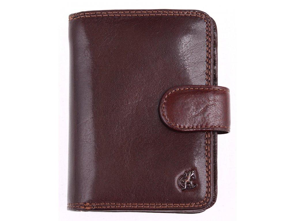 2ca0e85de7e Dámská kožená peněženka Cosset 4494 Komodo hnědá z kvalitní hověziny