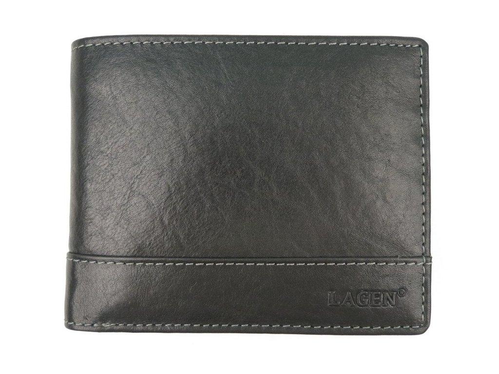Pánská kožená peněženka Lagen V-76/T černá