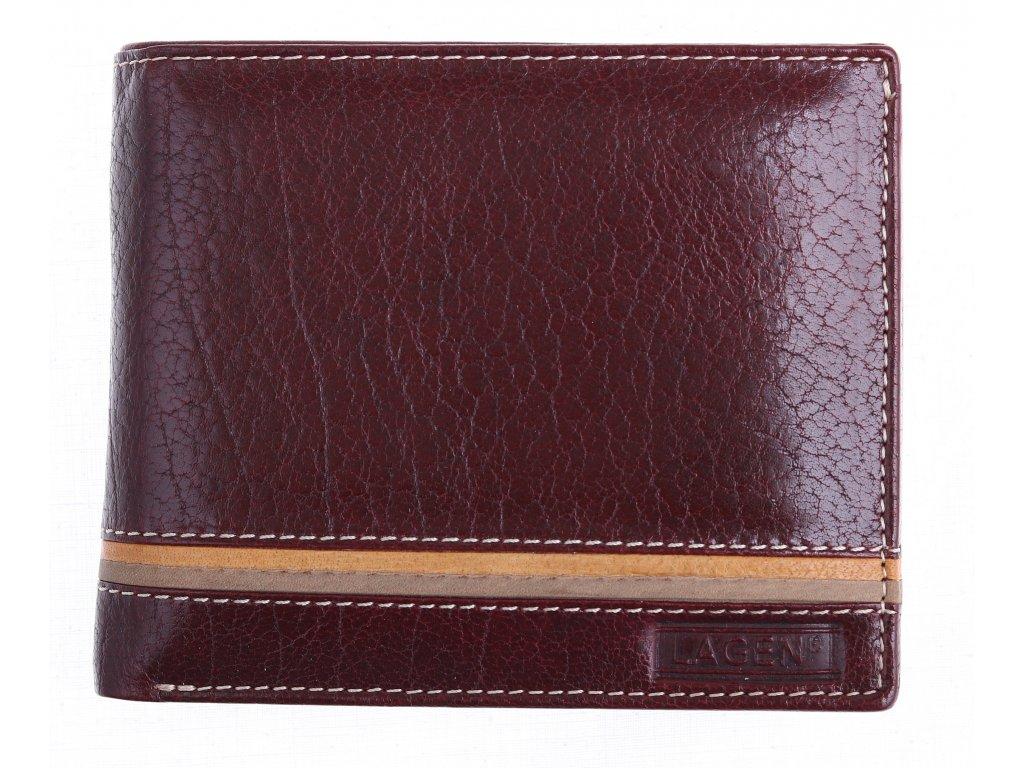 Pánská kožená peněženka Lagen 614794 hnědá