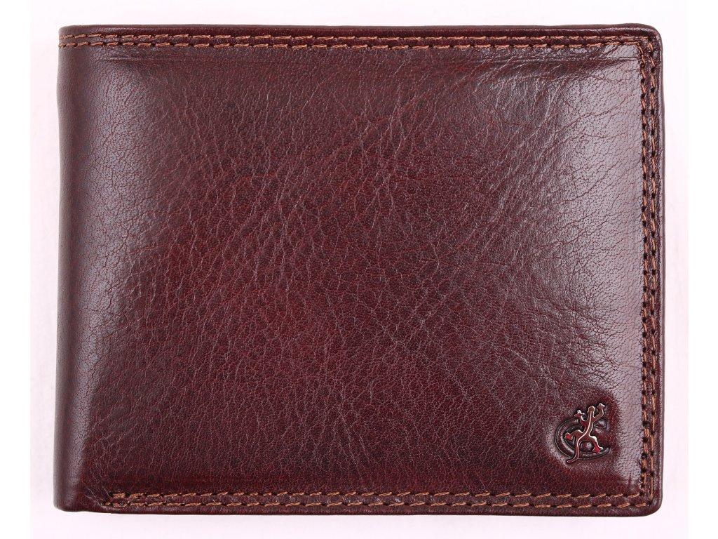 Pánská kožená peněženka Cosset 4465 Komodo hnědá