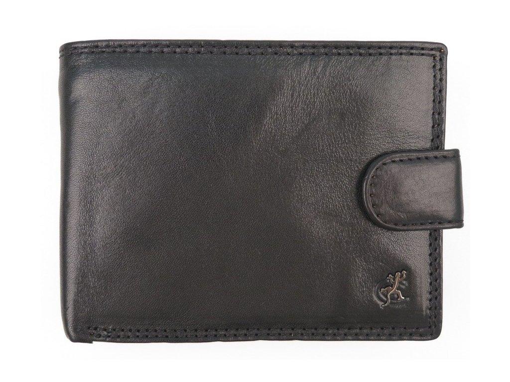 Pánská kožená peněženka Cosset 4413 Komodo černá