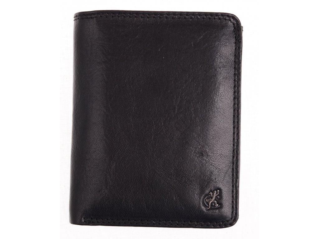 Velká pánská kožená peněženka Cosset 4416 Komodo černá