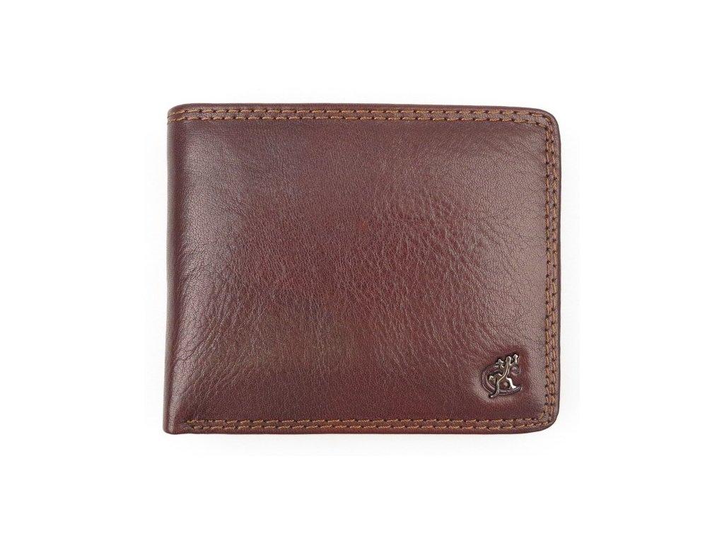 Malá pánská kožená peněženka Cosset 4405 Komodo hnědá