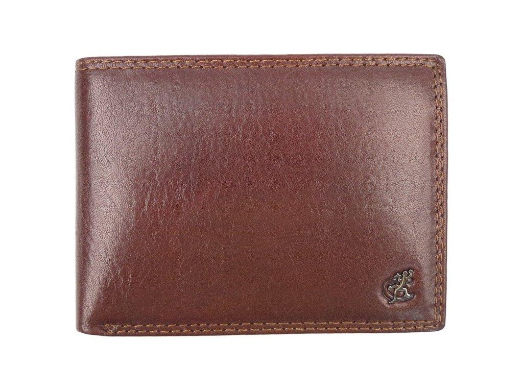 Pánská kožená peněženka Cosset 4460 Komodo hnědá