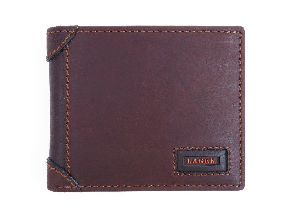 Pánská kožená peněženka Lagen 1123 hnědá