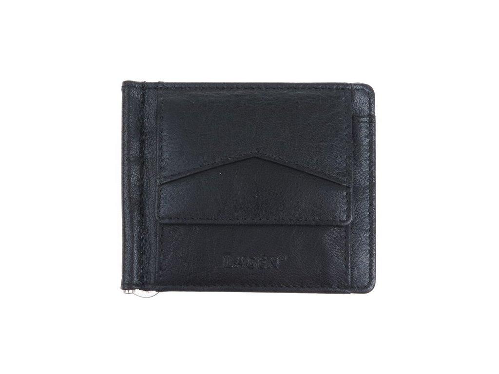 Kožená dolarovka Lagen 2018 černá