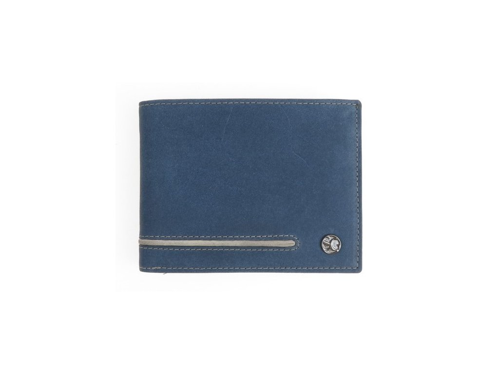 Pánská kožená peněženka Segali 730115020 modrá