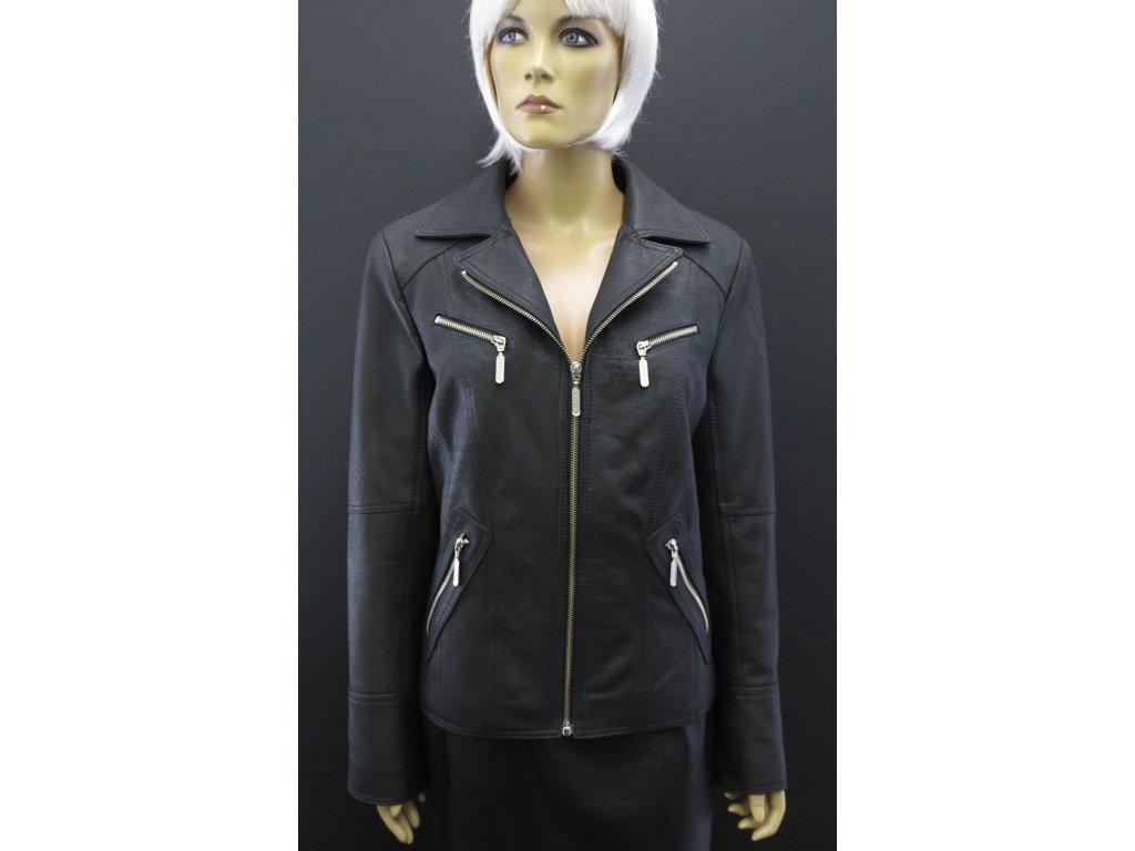 Dámská kožená bunda Navigator F202 černá