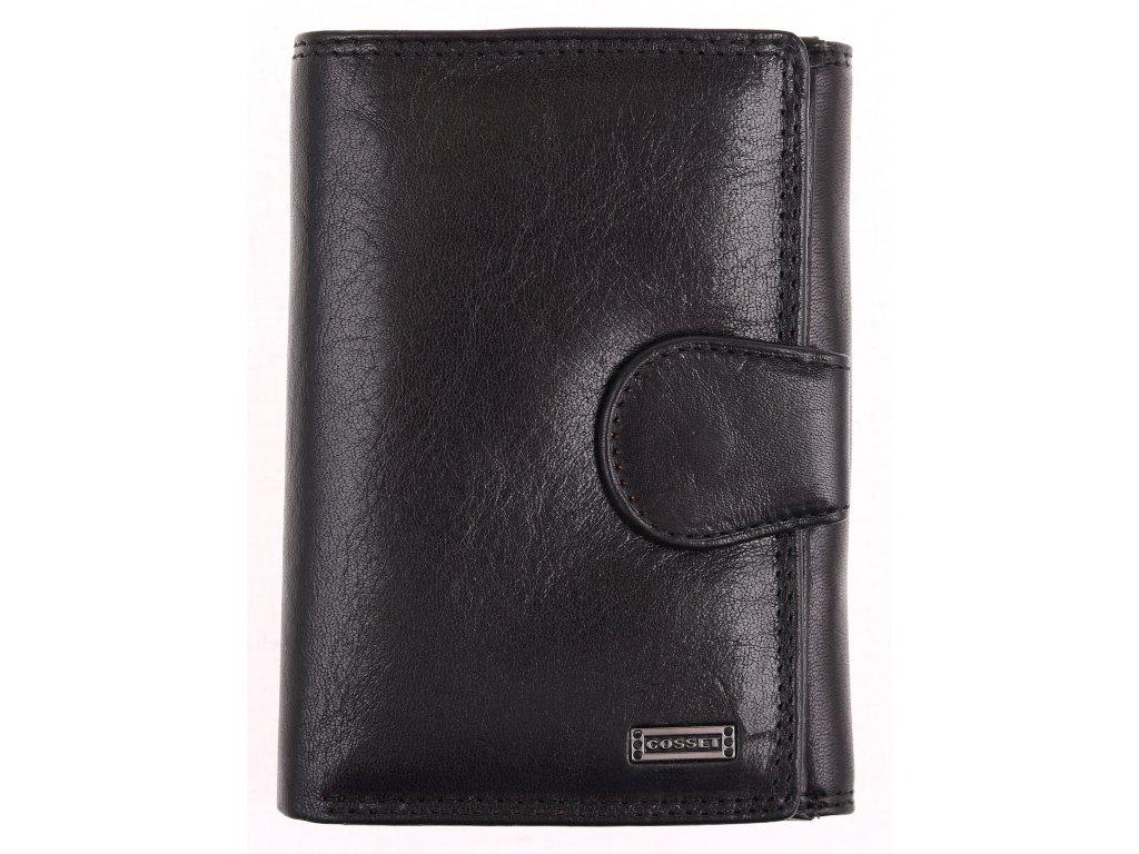 Dámská kožená peněženka Cosset 4409 Flamengo černá