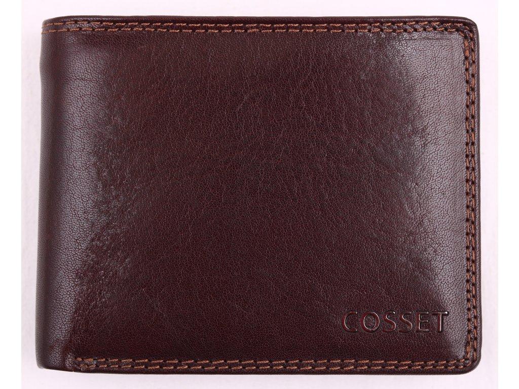 Pánská kožená peněženka Cosset 4465 Vitto hnědá
