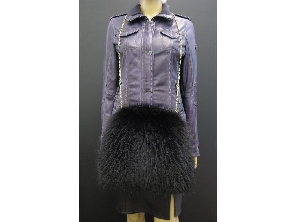 luxusní kožešinový rukávník černý mývalovec