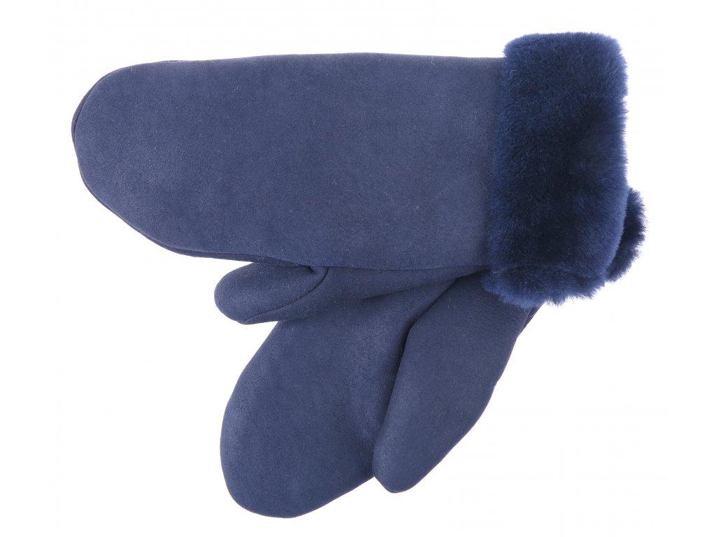 dámské zimní velurové palčáky beránčí kožešina