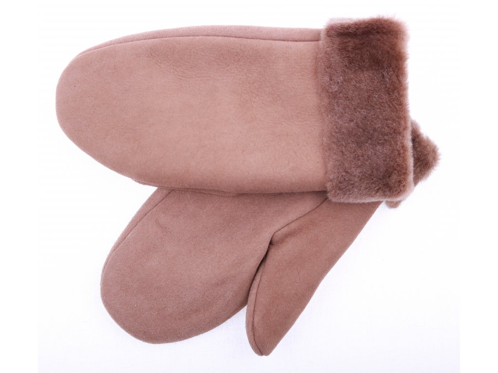 Dámské kožešinové palčáky hnědé