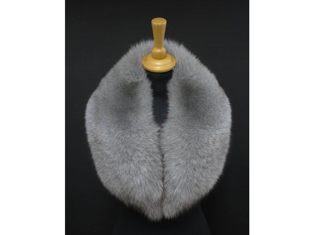Kožešinový límec z lišky šedý