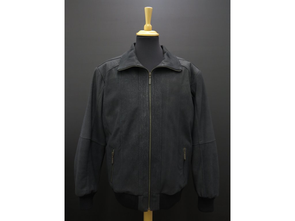 Pánská kožená bunda pasovka Navigator F193 černá