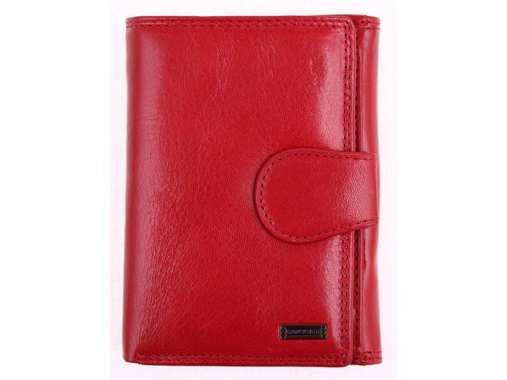 Dámská kožená peněženka Cosset 4409 Red Flamengo červená