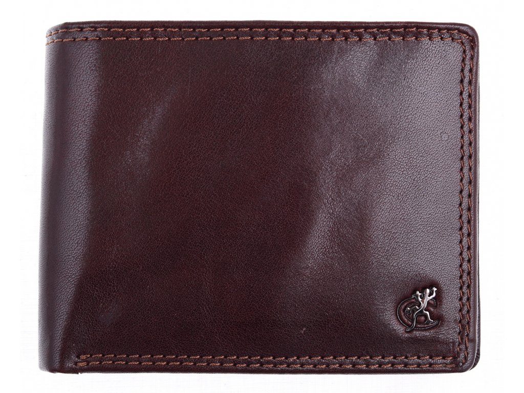 Pánská kožená peněženka Cosset 4471 Komodo hnědá